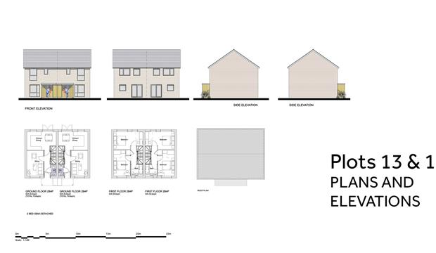 PA 20 05 PLOTS 13 And 14 PLANS AND ELEVATIONS